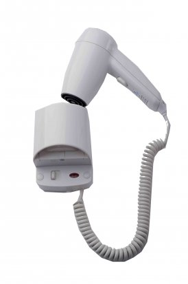 Wall Mounted Hairdryer - White