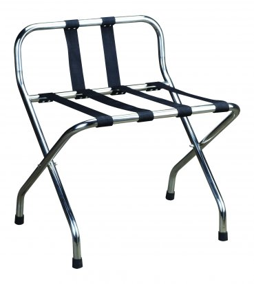 Chrome Luggage Rack with Back - Each