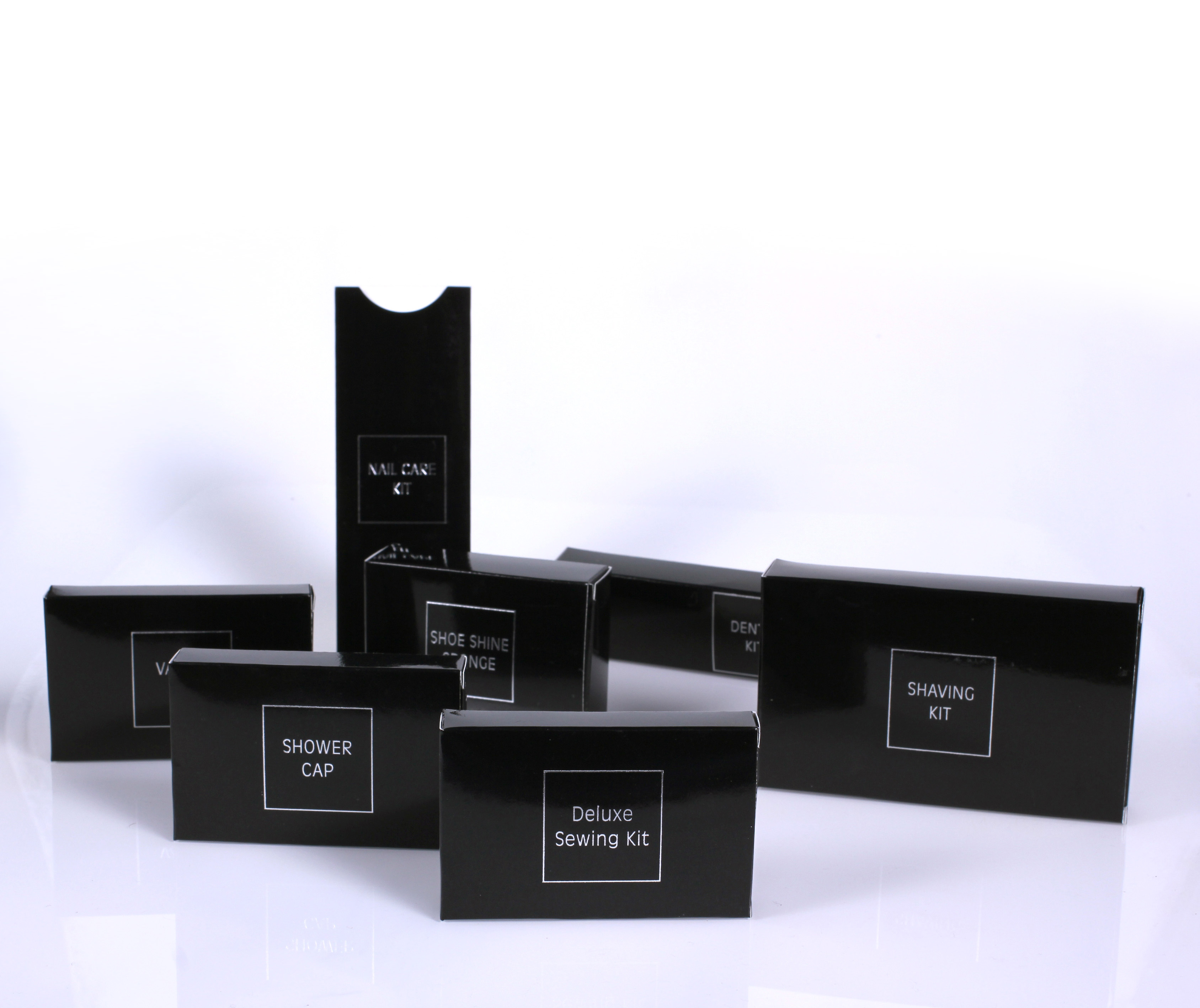 Black and Silver Carton Hotel Amenities