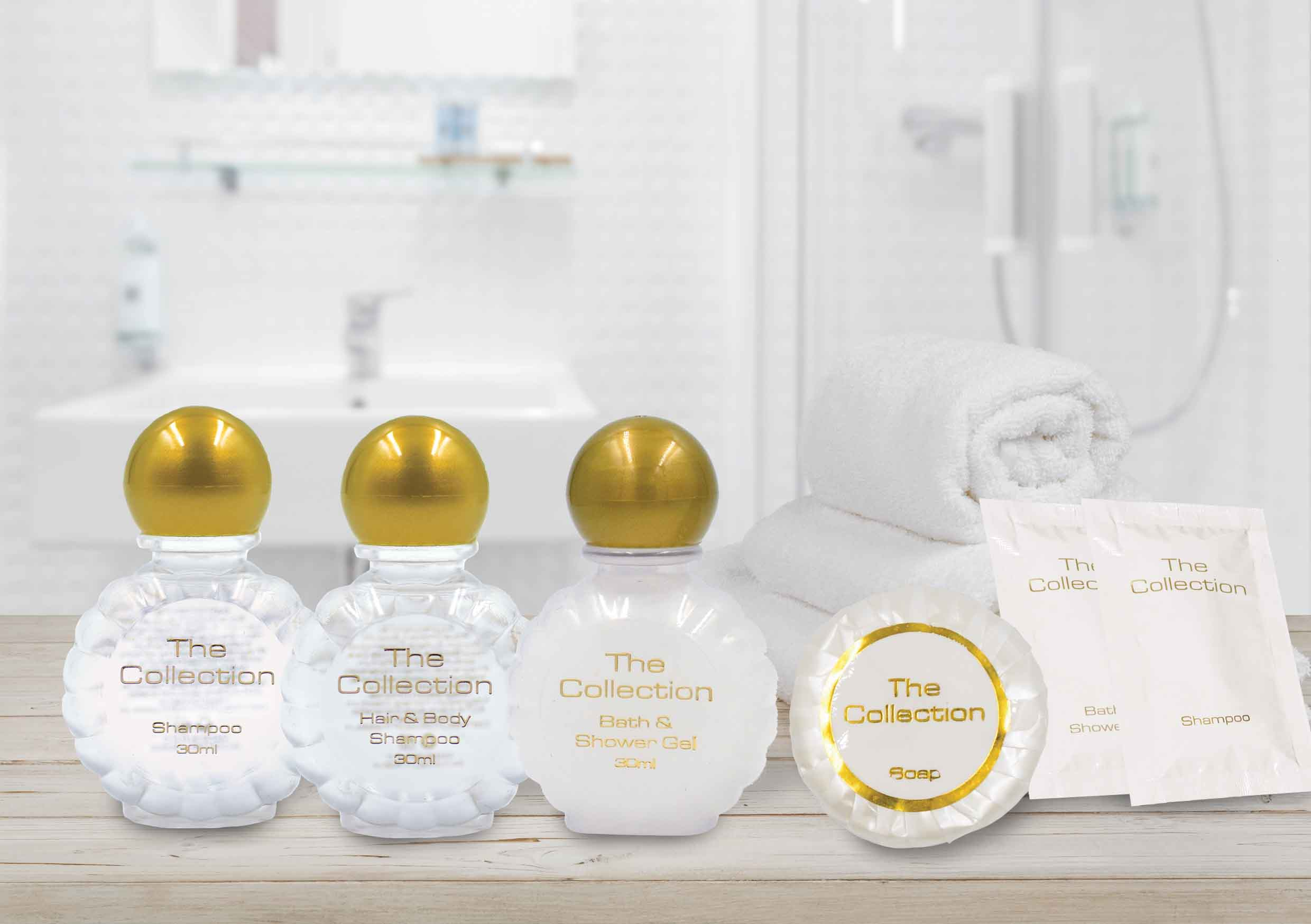 The Collection: White & Gold Toiletries
