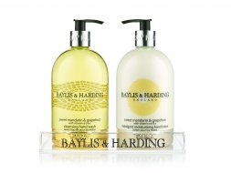Baylis & Harding 500ml Cleansing Hand Wash & 500ml Indulgent Moisturising Hand Lotion Pump Bottle In Tray