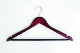 Dark Wood Hanger with Conventional Hook