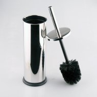 Deluxe Stainless Steel Toilet Brush and Holder