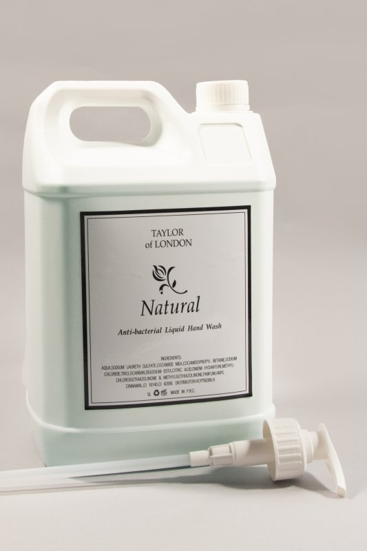 Natural 5ltr Anti Bacterial Liquid Hand Wash Refill - 1 Box of 2